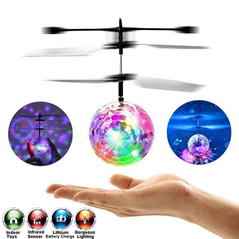 Image of Flying Crystal Ball Helicopter - Inspired Genie