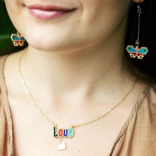 LOVE Letter Pendant Necklace - Inspired Genie