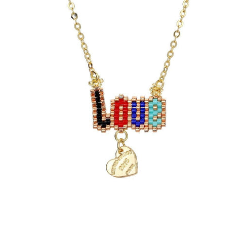 Image of LOVE Letter Pendant Necklace - Inspired Genie