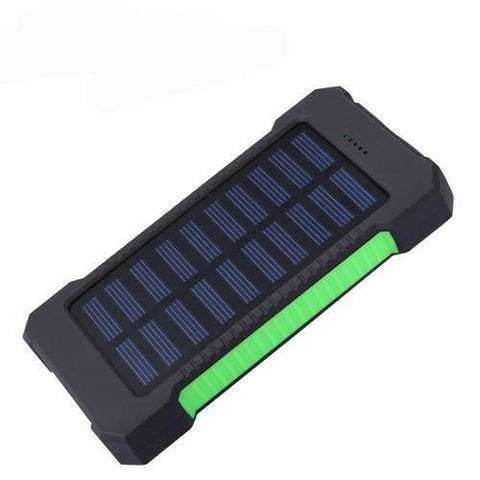 Solar Power Bank Waterproof Charger WITH 2 USB Ports - Inspired Genie