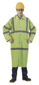 Hi-Visibility Green Raincoat