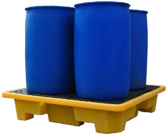 Stackable 4 Drum Spill Pallet