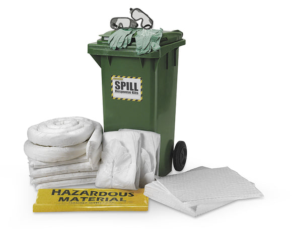120 Litre Dispenser Spill Kit Cart - Oil Only