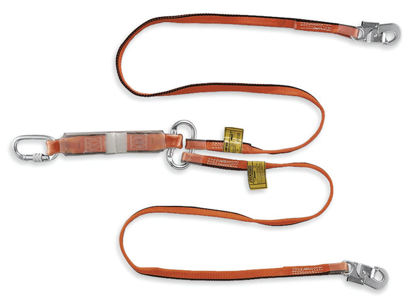 Twin Webbing Lanyard With Energy Absorber