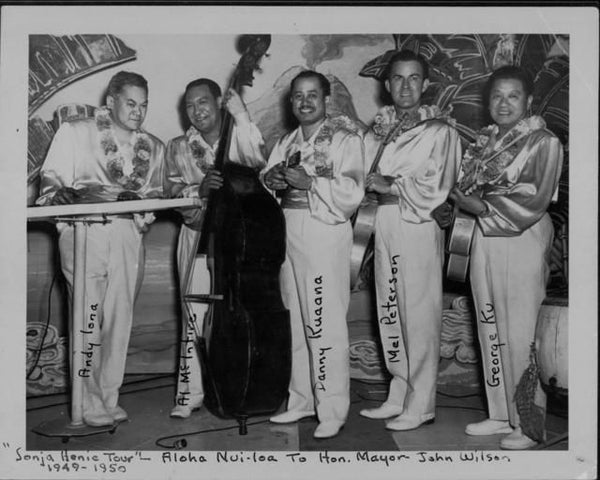 Hawaiian Musicians On Tour With Skater Sonja Henie - 1949-1950