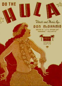 """Do The Hula"" by Don McDiarmid (Original 1936 Sheet Music Cover)"