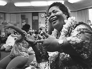 Kumu Hula (Hula Master) Edith Kanakaole Teaches A Class In 1974