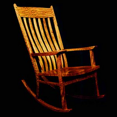 Rocking Chair (made of native Hawaiian koa acacia wood)