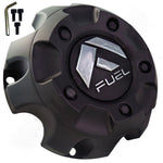 Fuel Offroad Wheels Flat Black Custom Wheel Center Cap # 1001-56B / M-452 (1 CAP)