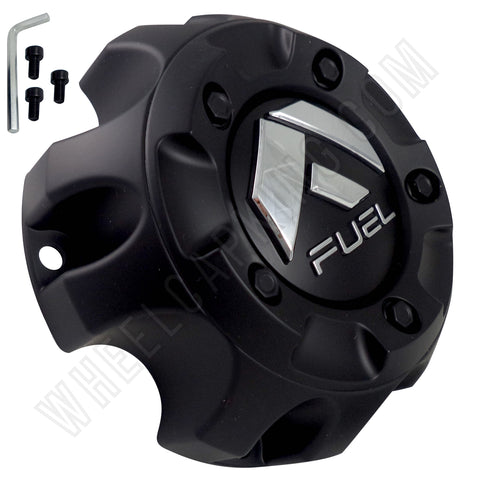 Fuel Offroad Wheels Flat Black Custom Wheel Center Cap # 1001-61B / M-453 (1 CAP)