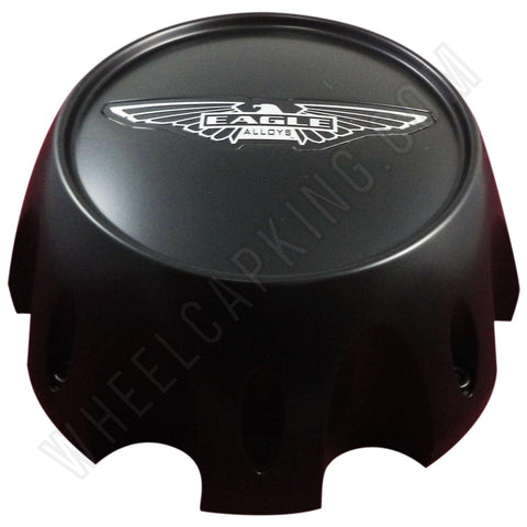 Eagle Alloys Wheels Matte Black Custom Wheel Center Cap # 3290-08 (4 CAPS)