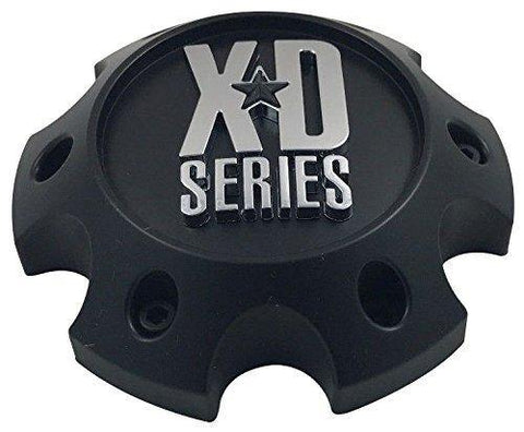 XD Series 1079L140-H34 Flat Black Custom Wheel Center Cap (2 CAPS)