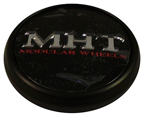 MHT Wheels 1001-85 Custom Center Cap Flat Black (Set of 2)