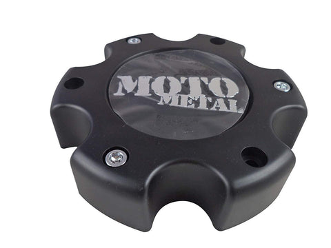Moto Metal MO909B6139YB Flat Black Wheel Center Caps (1 CAP)
