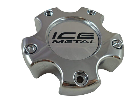 ICE # 173B Chrome Custom Wheel Center Cap (4 CAPS)