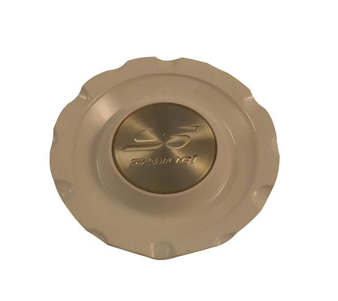 Sendel Wheels MT70/S1050-7000 White/Gold Custom Wheel Center Caps (1 CAP)