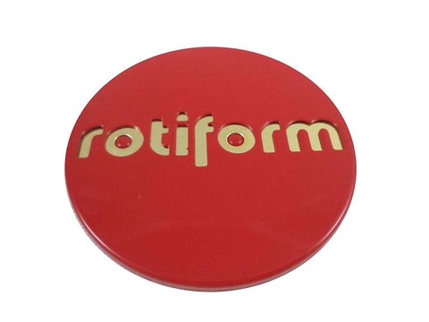 RotiForm Red/Gold Emblem Custom Wheel Center Caps # 1003-40RG (1 Cap)