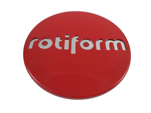 RotiForm Red Custom Wheel Center Caps # 1003-40RC (1 Cap)