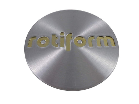 RotiForm Silver Custom Wheel Center Caps # 1003-40MG Gold Emblem (4 CAPS)