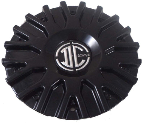 2 Crave Wheels Black Wheel Center Caps QTY 4 # C106101-2295 CAP