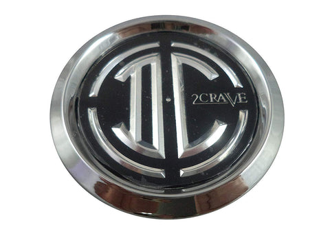 2 Crave Wheels C109101CAP Chrome Custom Wheel Center Caps (4 CAPS)