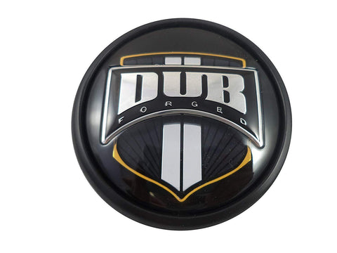 DUB Wheels 1001-92B Black/Black Custom Wheel Center Caps (1 CAP)