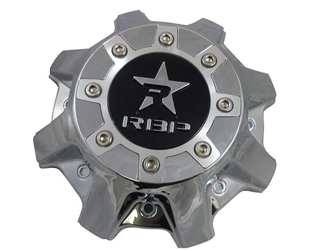 RBP Wheels Chrome/Black Logo Custom Wheel Center Caps # CAP8040-6-4-C (1 CAP)