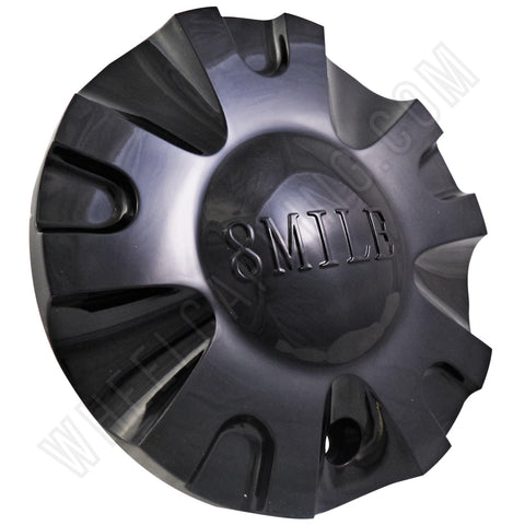 8 Mile Wheels Gloss Black Custom Wheel Center Caps # C-099-1 (4 CAPS)
