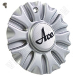 Ace Wheels Silver Custom Wheel Center Cap (4 CAPS)