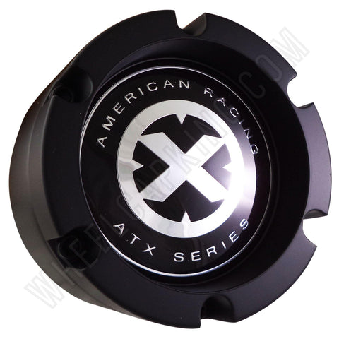 American Racing ATX Series Black Custom Wheel Center Cap Caps Set of 4 # 391K132