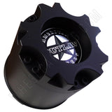 American Outlaw Wheels Flat Black Custom Wheel Center Caps # BC-893 (4 CAPS)