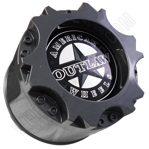 American Outlaw Wheels Gloss Grey Custom Wheel Center Caps # BC-894  (1 CAP)