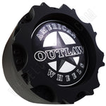 American Outlaw Wheels Flat Black Custom Wheel Center Caps # BC-895 (4 CAPS)