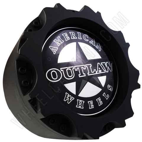 American Outlaw Wheels Flat Black Custom Wheel Center Caps # BC-895 (1 CAP)