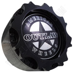 American Outlaw Wheels Gloss Black Custom Wheel Center Cap # BC-895 (4 CAPS)