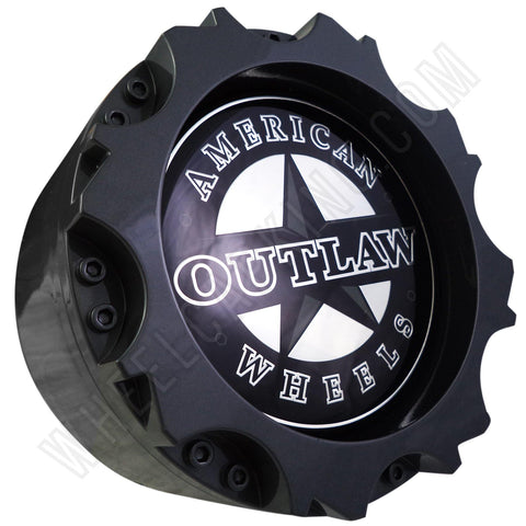 American Outlaw Wheels Gloss Grey Custom Wheel Center Cap # BC-895 (1 CAP)