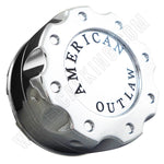 American Outlaw Wheels Chrome Custom Wheel Center Caps # BC-670Z (1 CAP)