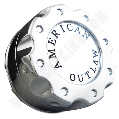 American Outlaw Wheels Chrome Custom Wheel Center Caps # BC-670Z (4 CAPS)