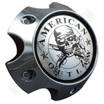 American Outlaw Wheels Chrome Custom Wheel Center Caps # BC-787 (1 CAP)