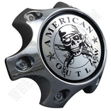 American Outlaw Wheels Chrome Custom Wheel Center Caps # BC-788 (1 CAP)