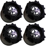 American Outlaw Wheels Flat Black Custom Wheel Center Caps # BC-894 (4 CAPS)