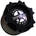 American Outlaw Wheels Gloss Black Custom Wheel Center Caps # BC-894 (1 CAP)