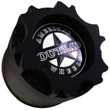 American Outlaw Wheels Gloss Black Custom Wheel Center Caps # BC-894 (4 CAPS)