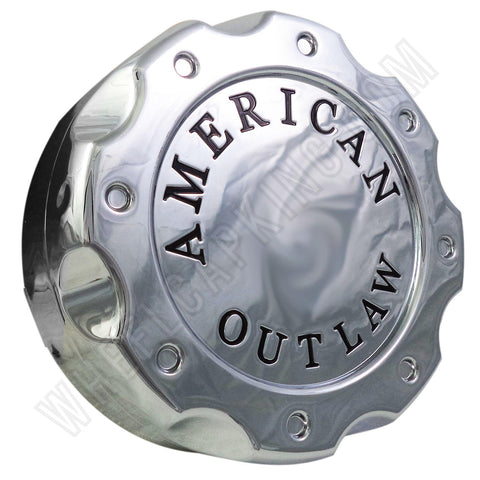 American Outlaw Wheels Chrome Custom Wheel Center Caps # BC-671Z (1 CAP)