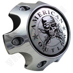 American Outlaw Wheels Chrome Custom Wheel Center Caps # BC-786 (4 CAPS)