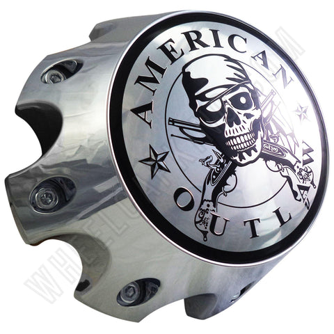 American Outlaw Wheels Chrome Custom Wheel Center Caps # BC-790H (1 CAP)