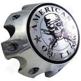 American Outlaw Wheels Chrome Custom Wheel Center Caps # BC-790H (4 CAPS)