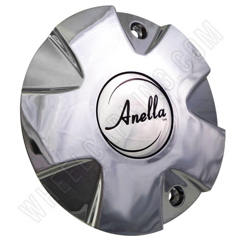 Anella Wheels Fighting Star Chrome Custom Wheel Center Cap # C159 (4 CAPS)