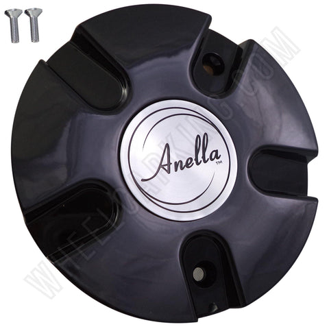 Anella Wheels Gloss Black Custom Wheel Center Cap # C153 (4 CAPS)