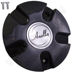 Anella Wheels Gloss Black Custom Wheel Center Cap # C153 (1 CAP)